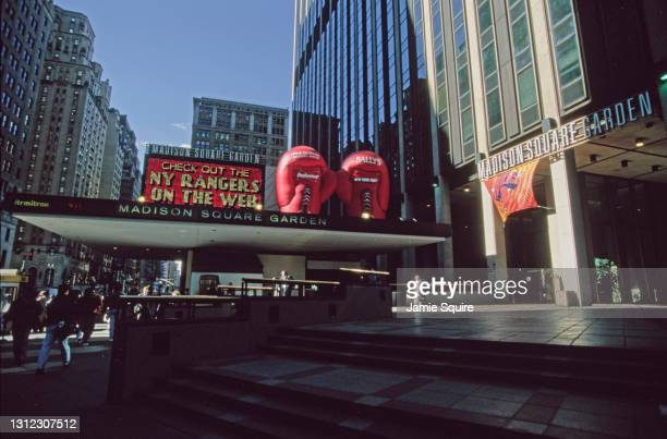 General exterior view of Madison Square Garden in New York City on 10th March 2000.
