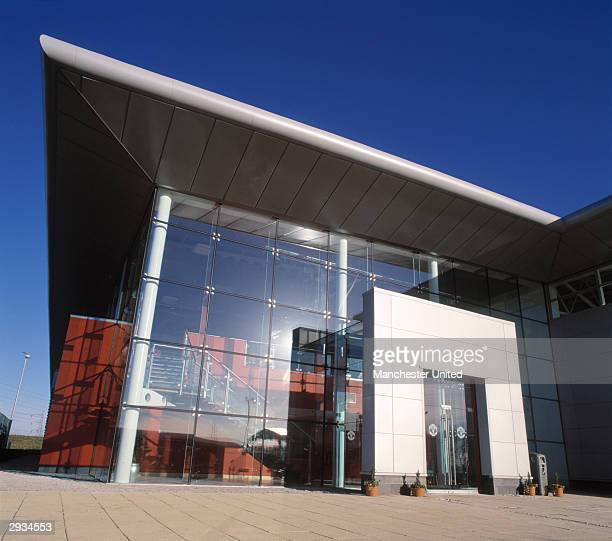 A general exterior view of the entrance to the Manchester United Academy building at the Trafford Training Ground in Carrington on November 25 2003...