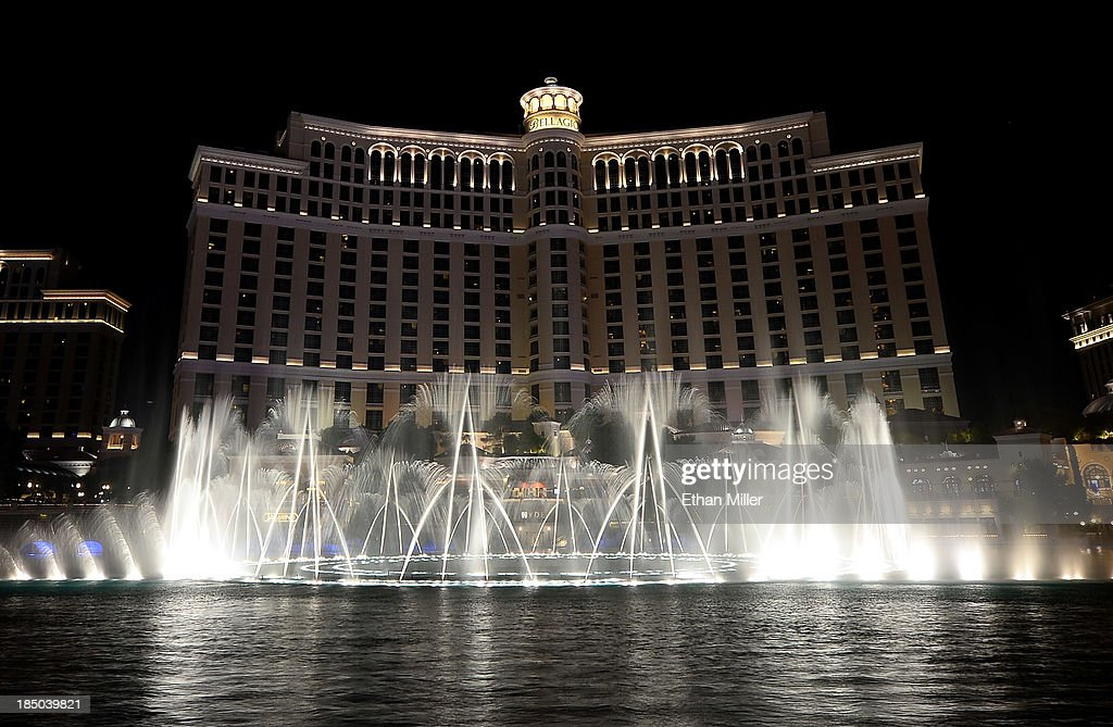 A general exterior view of The Fountains of Bellagio on October 16, 2013 in Las Vegas, Nevada.