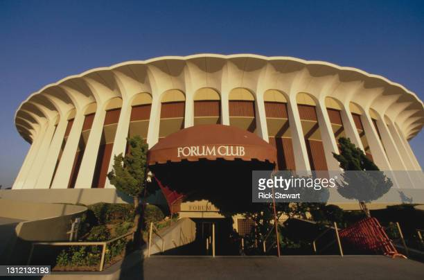General exterior view of the Great Western Forum Arena during the NBA Pacific Division basketball game between the Los Angeles Lakers and the...