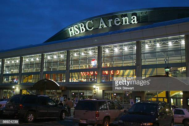 General exterior view of the HSBC Arena taken before the game between the Montreal Canadiens and the Buffalo Sabres on February 9, 2006 at HSBC Arena...