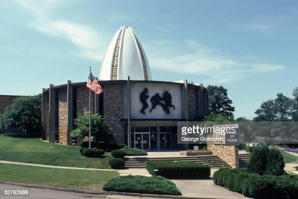 A general exterior view of the Professional Football Hall of Fame in Canton Ohio