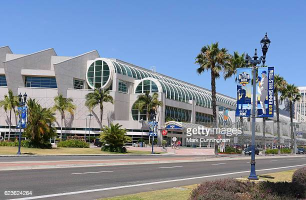 A general exterior view of the San Diego Convention Center during the MLB AllStar FanFest prior to the 87th MLB AllStar Game at PETCO Park on July 12...