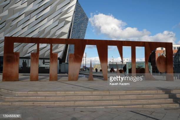 General exterior view of the Titanic Belfast Museum on October 30, 2019 in Belfast, United Kingdom.