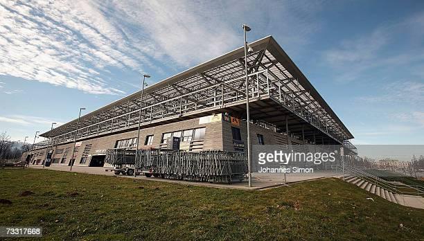 General exterior view of the UEFA EURO 2008 stadium Wals-Siezenheim taken on February 14, 2007 in Salzburg, Austria.