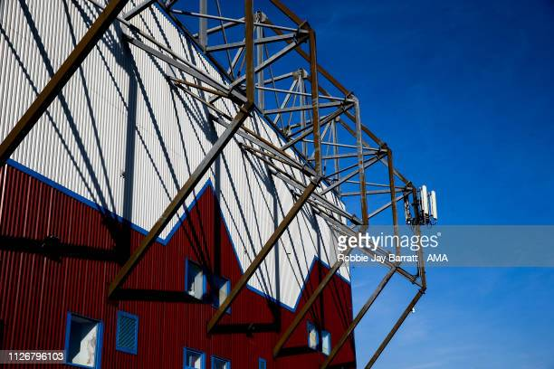 General external view of Turf Moor, home stadium of Burnley during the Premier League match between Burnley FC and Tottenham Hotspur at Turf Moor on...