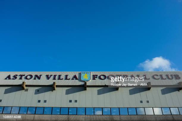 Jonathan Kodjia of Aston Villa reacts during the Sky Bet Championship match at Villa Park on September 18 2018 in Birmingham England