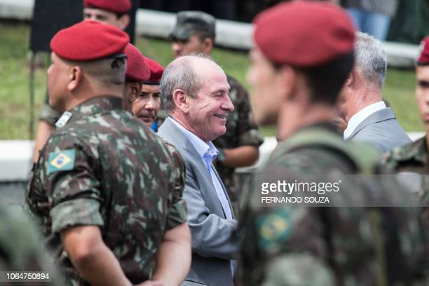 General Fernando Azevedo e Silva who was appointed by Brazilian Presidentelect Jair Bolsonaro as Defense Minister arrives at the graduation ceremony...