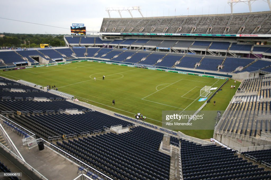 A general field view of the stadium prior to the International Champions Cup 2017 soccer match between Paris Saint-Germain and Tottenham Hotspur at Camping World Stadium on July 22, 2017 in Orlando, Florida.