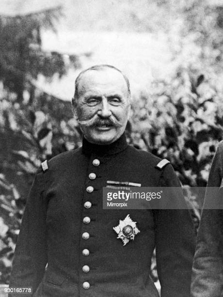General Foch seen here during a meeting with King George V and General Douglas Haig 12th August 1916