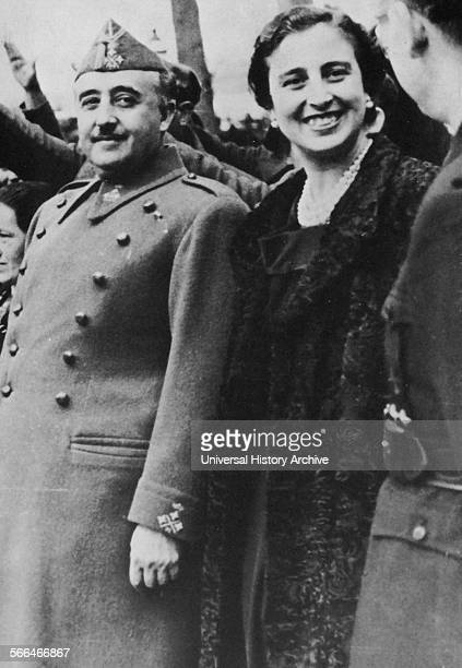 General Francisco Franco and his wife Carmen polo during the Spanish Civil War