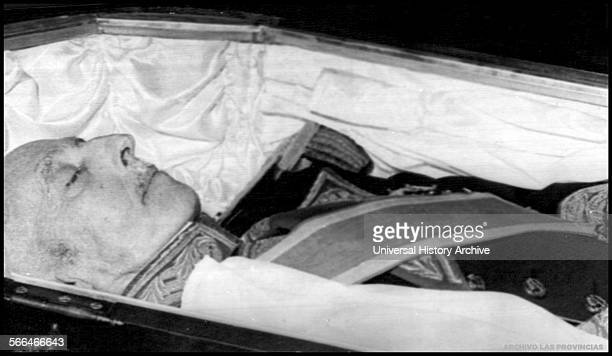 General Francisco Franco dictator of Spain, lies in state following his death in 1975.