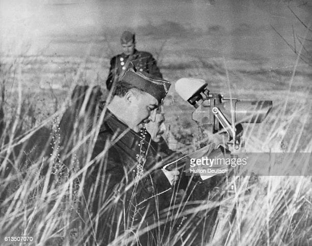 General Francisco Franco directing Nationalist forces in Catalonia towards the close of the Spanish Civil War
