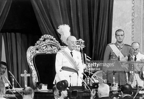 General Francisco Franco ernennt Juan Carlos von Spanien zu seinem Nachfolger
