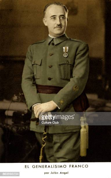 General Francisco Franco portrait Spanish military general dictator and member of the Falange movement 4 December 1892 20 November 1975