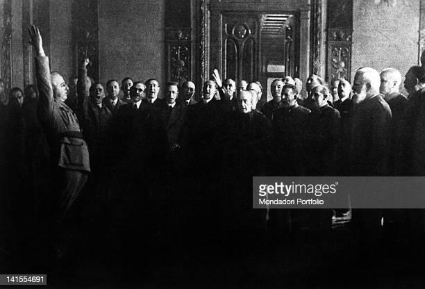 General Francisco Franco swearing allegiance to Spain Burgos October 1936