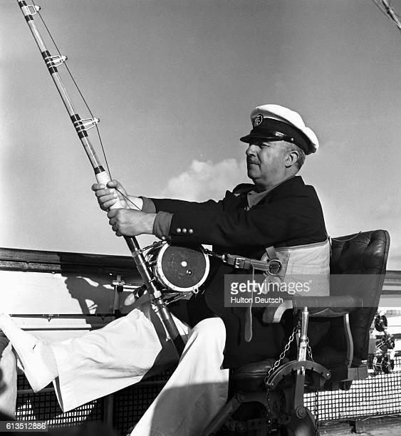 General Franco on yacht 'Azor'