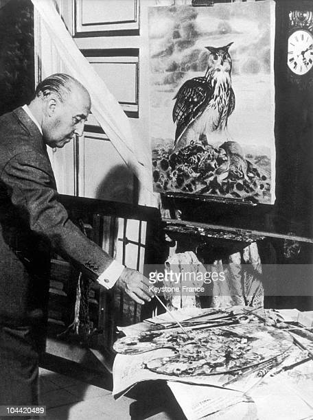 General Franco The Caudillo Of Spain Painting In The 1950'S