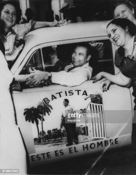 General Fulgencio Batista is reelected President of Cuba with the slogan 'Este es el Hombre' circa 1954