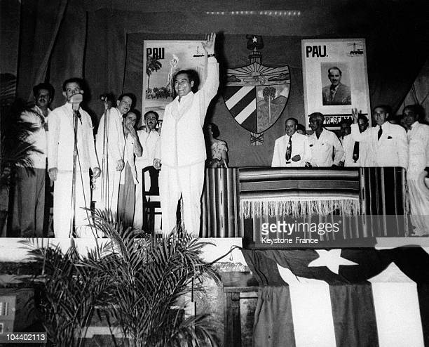 General Fulgencio BATISTA taking over control of the country in Havana He became President of Cuba after having dissolved the political parties...