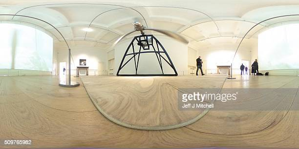 A general gallery view featuring a propeller from a B52 bomber part of an installation at the Scottish National Gallery of Modern Art on February 12...