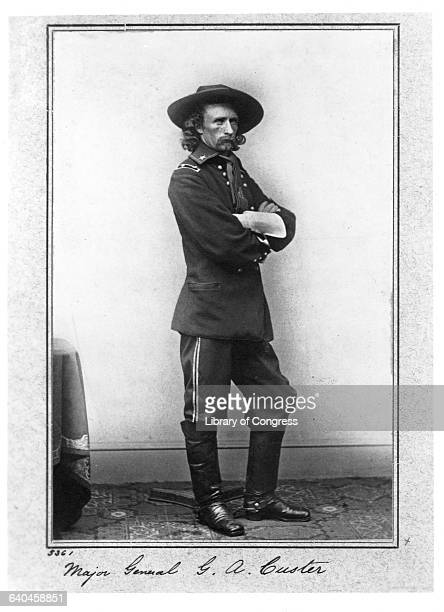 General George Armstrong Custer wearing his military uniform