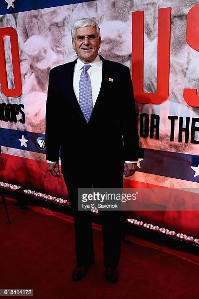 General George Casey Jr attend the USO For the Troops Screening on The Intrepid Museum October 26 2016 in New York City