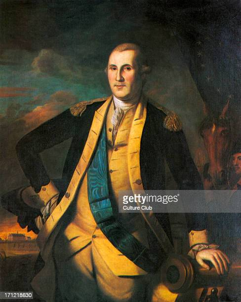General George Washington portrait of the first President of the United States 22 February 1732 14 December 1799 Painted by Charles Willson Peale...