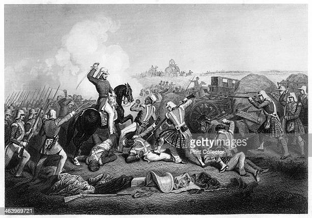 'General Havelock's attack on Nana Sahib at Futtypore' . Scene from the period of the Indian Mutiny. Illustration from The History of the Indian...