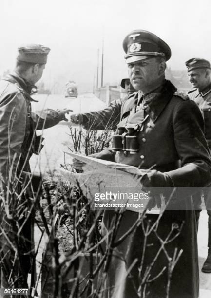 General Heinz Guderian after the battle for Langres Photography [General Heinz Guderian nach Kampfhandlungen im eroberten Langres Frankreich...