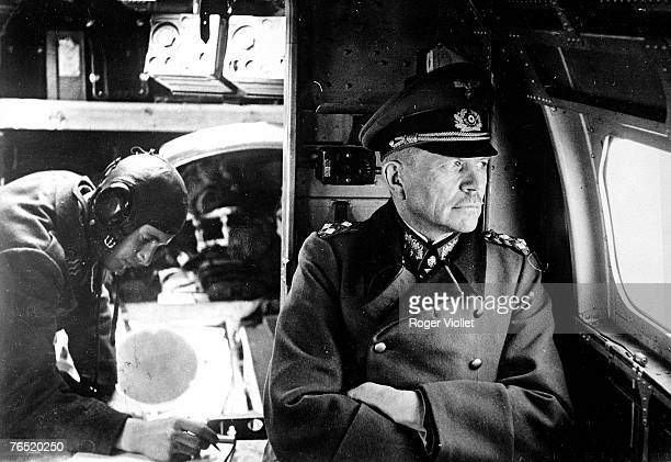 General Heinz Guderian of Germany looks out the window on a flight during World War II circa 193945