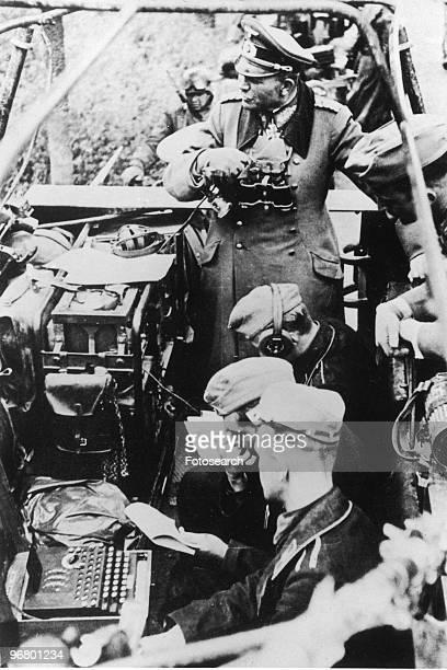 General Heinz Guderian showing his enigma machine June 4 1940