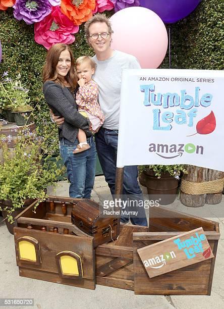 General Hospital actress Rebecca Budig Michael Benson and daughter Charlotte Jo Benson attend Amazon Original Series Tumble Leaf season two...