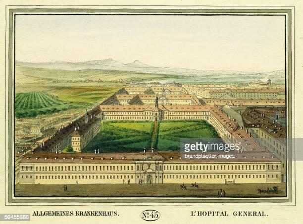 General Hospital Colour Etching Verlag Tranquillo Mollo Vienna 1825 [Allgemeines Krankenhaus [Gruende des alten Allgemeinen Krankenhauses]...