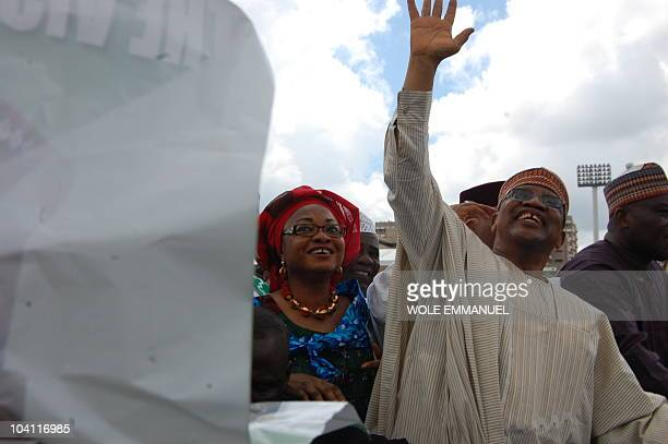 General Ibrahim Babangida and his supporters participate in a rally on September 15, 2010 on Eagle square, Abuja. Former Senat President during the...