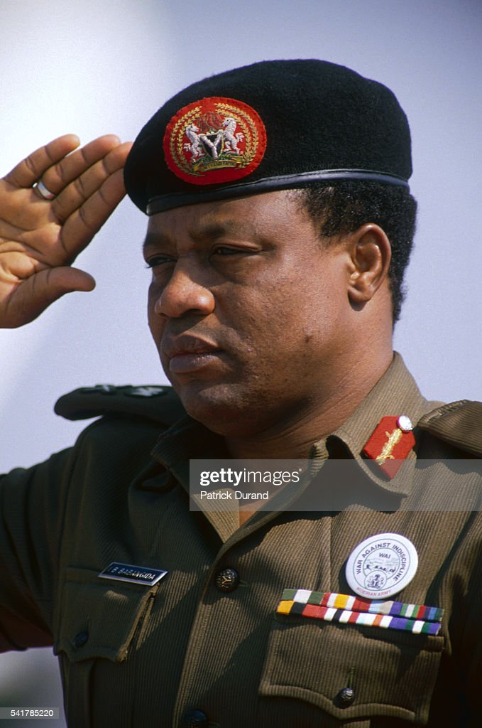 General Ibrahim Babangida, President of Nigeria since the August 1985 coup d'etat, attends the eight Summit of Non-Aligned Countries. He will resign from office in August 1993.