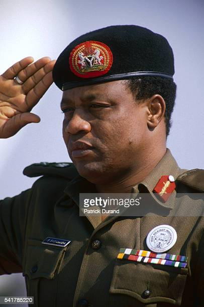 General Ibrahim Babangida, President of Nigeria since the August 1985 coup d'etat, attends the eight Summit of Non-Aligned Countries. He will resign...