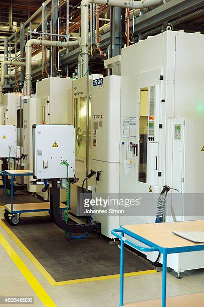General impressions and detail views of a production hall seen during a Bavarian Governor Horst Seehofer and Bundestag fraction leader of the...