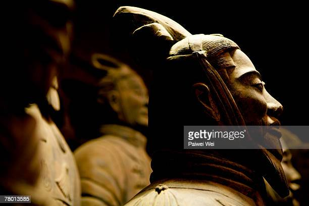 General in the Terracotta Army of Xi'an. General is flanked by his army.