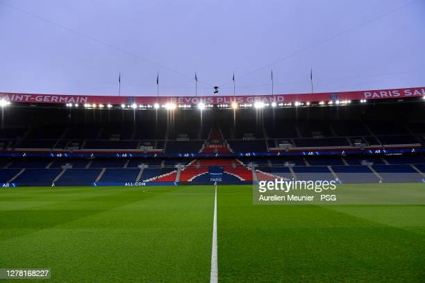 General inside view of Le Parc des Princes before the Ligue 1 match between Paris Saint-Germain and Angers SCO at Parc des Princes on October 02,...