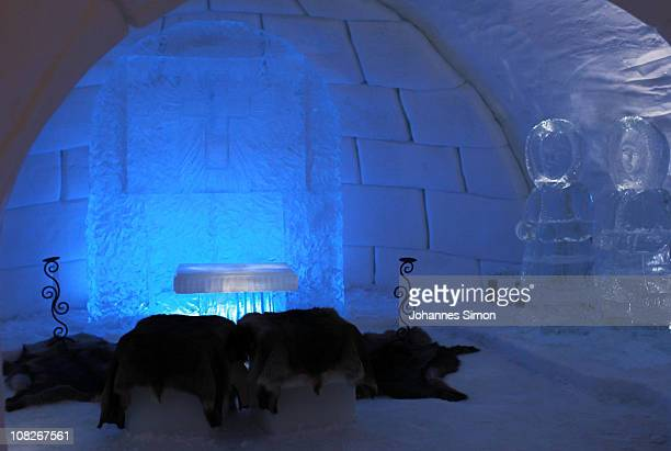General inside view of the Alpeniglu hotel wedding chapel at Hochbrixen photo taken on January 23 2011 in Brixen im Thale Austria The hotel is built...