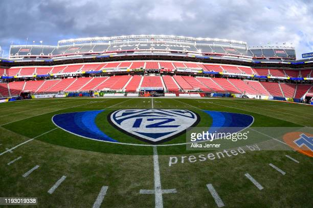 General interior view of Levi's Stadium during the Pac-12 Championship football game between the Oregon Ducks and the Utah Utes at Levi's Stadium on...