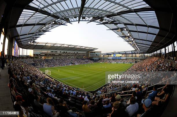 A general interior view of LiveStrong Park during an MLS match between Vancouver Whitecaps FC and Sporting Kansas City on June 25 2011 at LiveStrong...