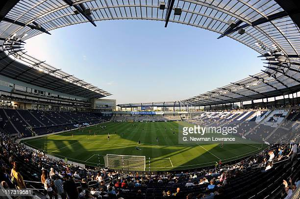 A general interior view of LiveStrong Park prior to an MLS match between the Vancouver Whitecaps FC and Sporting Kansas City on June 25 2011 at...