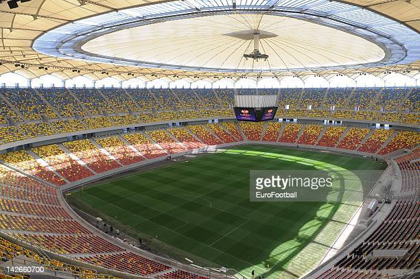 General interior view of National Arena Stadium prior to UEFA Europa League trophy handover ceremony on April 11, 2012 in Bucharest, Romania....