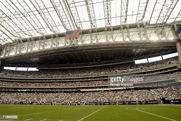 A general interior view of Reliant Stadium taken before the game between the Philadelphia Eagles and the Houston Texans on September 10 2006 at...