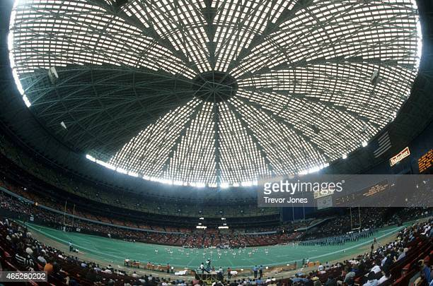 General interior view of the halftime show during an NFL game between the Cleveland Browns and Houston Oilers on December 16 1984 at the AstroDome in...