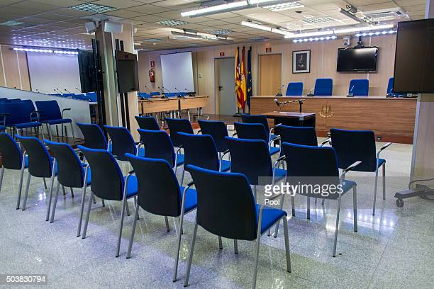 A general interior view of the headquarters of the Balearic School of Public Administration Palma where the Noos fraud trial will take place January...