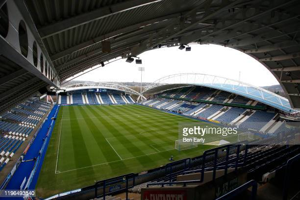 General interior view of The John Smiths Stadium, home of Huddersfield Town before the Sky Bet Championship match between Huddersfield Town and...