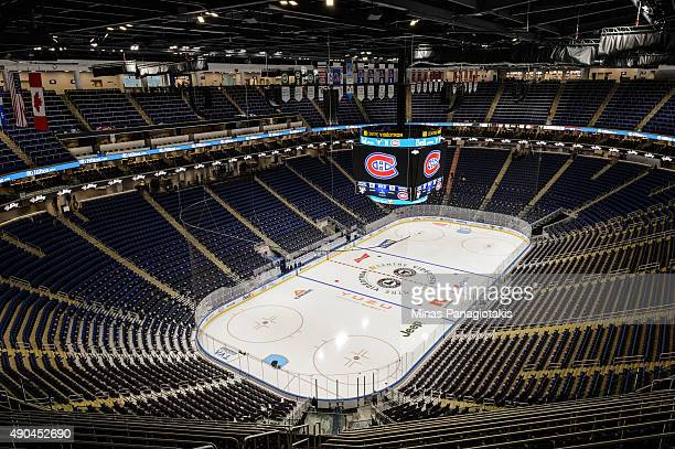 General interior view of the newly built Videotron Centre prior to the NHL pre-season game between the Montreal Canadiens and the Pittsburgh Penguins...